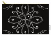 Coffee Flowers 4 Bw Ornate Medallion Carry-all Pouch