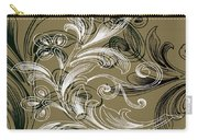 Coffee Flowers 4 Olive Carry-all Pouch by Angelina Vick
