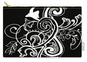 Coffee Flowers 5 Bw Carry-all Pouch