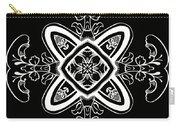 Coffee Flowers 5 Bw Ornate Medallion Carry-all Pouch