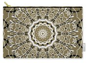Coffee Flowers 5 Olive Ornate Medallion Carry-all Pouch