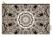 Coffee Flowers 5 Ornate Medallion Carry-all Pouch