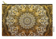 Coffee Flowers 6 Calypso Ornate Medallion Carry-all Pouch