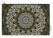 Coffee Flowers 6 Olive Ornate Medallion Carry-all Pouch
