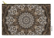 Coffee Flowers 6 Ornate Medallion Carry-all Pouch