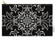 Coffee Flowers 7 Bw Ornate Medallion Carry-all Pouch by Angelina Vick