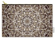 Coffee Flowers 7 Ornate Medallion Carry-all Pouch