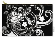Coffee Flowers 8 Bw Carry-all Pouch