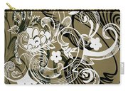 Coffee Flowers 8 Olive Carry-all Pouch