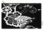 Coffee Flowers 9 Bw Carry-all Pouch