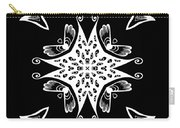 Coffee Flowers 9 Bw Ornate Medallion Carry-all Pouch