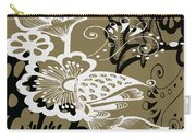Coffee Flowers 9 Olive Carry-all Pouch