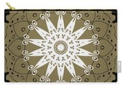 Coffee Flowers 9 Olive Ornate Medallion Carry-all Pouch