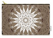 Coffee Flowers 9 Ornate Medallion Carry-all Pouch