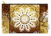 Coffee Flowers Calypso Triptych 2 Horizontal   Carry-all Pouch