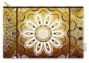 Coffee Flowers Medallion Calypso Triptych 2  Carry-all Pouch