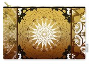Coffee Flowers Medallion Calypso Triptych 3  Carry-all Pouch