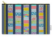 Coin Quilt -  Painting - Multicolors - Borders Carry-all Pouch