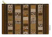 Coin Quilt - Painting - Sepia Patches Carry-all Pouch
