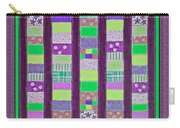Coin Quilt - Quilt Painting - Purple And Green Patches Carry-all Pouch