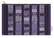 Coin Quilt -quilt Painting - Purple Patches Carry-all Pouch