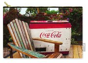 Vintage Coke Machine With Adirondack Chair Carry-all Pouch