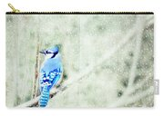 Cold Day For A Blue Jay Carry-all Pouch