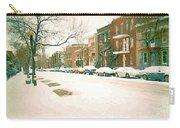 Cold Day In Montreal Pointe St Charles Art Winter Cityscene Painting After Big Snowfall Psc Cspandau Carry-all Pouch