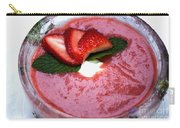 Cold Strawberry Rhubarb Soup In Ice Bowl Carry-all Pouch