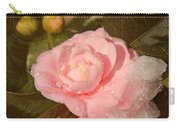Cold Swirled Camellia Carry-all Pouch