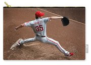 Cole Hamels - Pregame Warmup Carry-all Pouch by Stephen Stookey