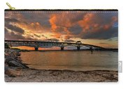 Coleman Bridge At Sunset Carry-all Pouch