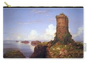 Cole's Italian Coast Scene With Ruined Tower Carry-all Pouch