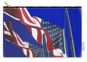 Collage Half Mast Flag Honoring President Ronald Reagan Number 2 Casa Grande Az  2004-2013 Vignetted Carry-all Pouch