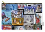 Collage Xmas Cards Vertical Photo Art Carry-all Pouch
