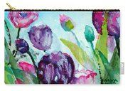 Collecting Pink And Purple Tulips Carry-all Pouch