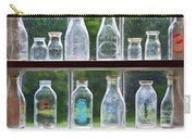 Collector - Bottles - Milk Bottles  Carry-all Pouch by Mike Savad