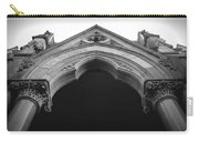 College Hall Entry - Black And White Carry-all Pouch