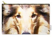 Collie Dog Art - Sunshine Carry-all Pouch by Sharon Cummings