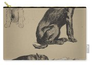 Collie, Retriever, Alstian And Keeshund Carry-all Pouch
