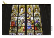 Cologne Cathedral Stained Glass Window Of The Adoration Of The Magi Carry-all Pouch