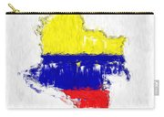 Colombia Painted Flag Map Carry-all Pouch