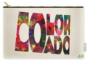 Colorado Typographic Watercolor Map Carry-all Pouch