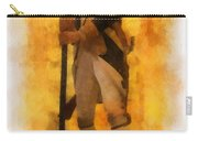 Colonial Soldier Photo Art  Carry-all Pouch by Thomas Woolworth