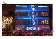 Colony Hotel South Beach Carry-all Pouch