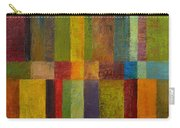 Color Panel Abstract Ll Carry-all Pouch by Michelle Calkins