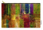 Color Panel Abstract Carry-all Pouch by Michelle Calkins