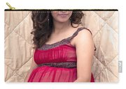 Color Portrait Young Pregnant Spanish Woman II Carry-all Pouch