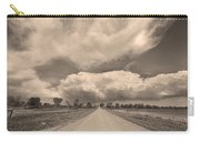 Colorado Country Road Sepia Stormin Skies Carry-all Pouch