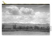 Colorado Front Range Rocky Mountains Panorama Bw Carry-all Pouch